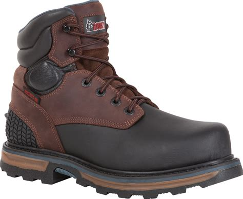 steel toe waterproof work boots rocky elements block 6 inch steel toe waterproof work boot