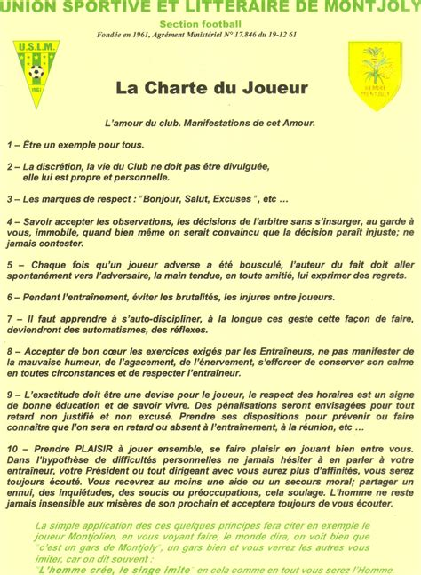 Lettre De Motivation De Footballeur Guide Du Parent Du Joueur Club Football Union Sportive Et Litteraire De Montjoly Footeo