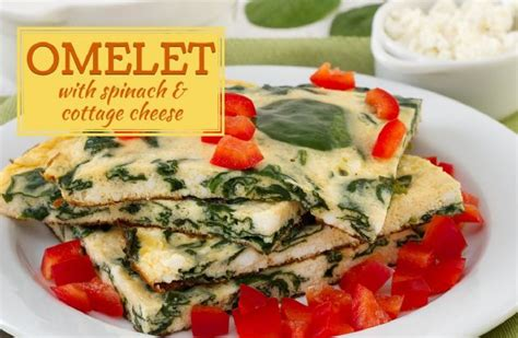 low calorie cottage cheese recipes omelet with spinach and cottage cheese recipe sparkrecipes