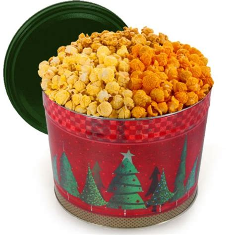 gift tin dollar tree tree gourmet popcorn tin chicago mix 3 5 gallon 5ive dollar market