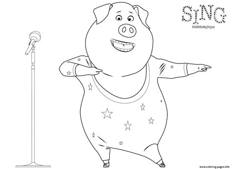 printable coloring pages cing sing coloring page pig coloring pages printable