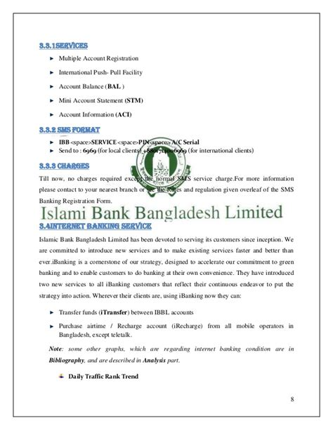 islami bank bangladesh report on banking mobile banking and atm service