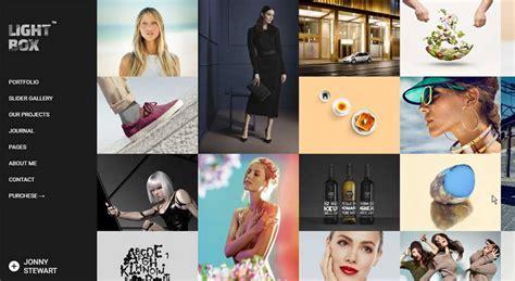 blog theme lightbox top 10 modern and artistic portfolio themes for wordpress