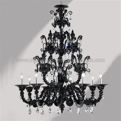 black glass chandeliers murano glass chandeliers