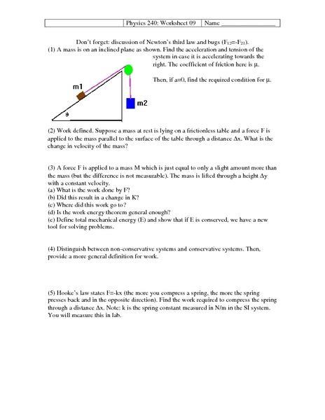 Newton S Third Worksheet Answer Key