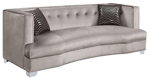 silver couches caldwell silver sofa 505881 coaster