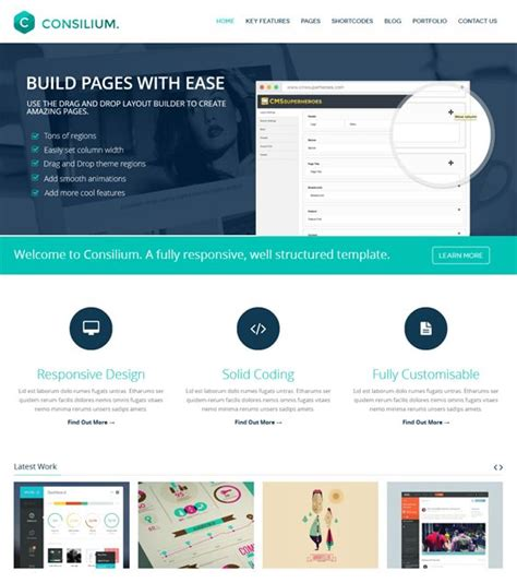 bootstrap templates for drupal free 18 best 18 of the best parallax drupal themes images on