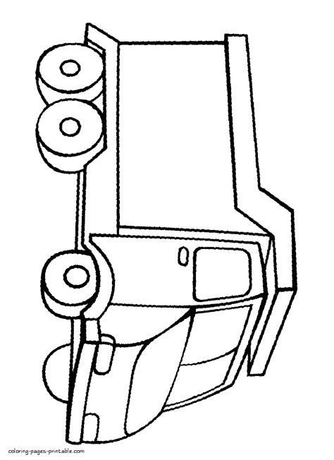 Simple Dump Truck Coloring Pages by Simple Coloring Sheets Dump Truck