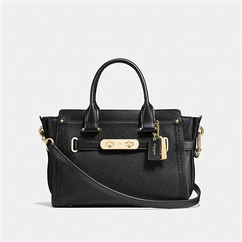 New Arrival Coach Swagger Mini coach coach swagger carryall 27 in pebble leather