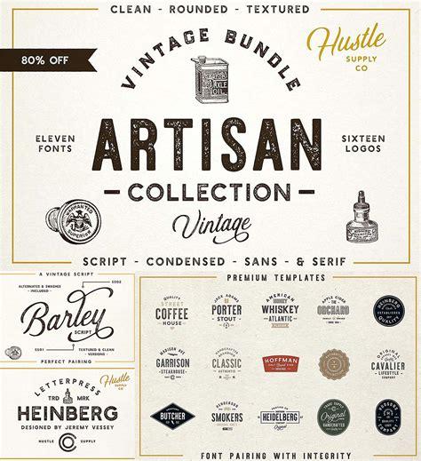 design font bundles the artisan collection font bundle free download
