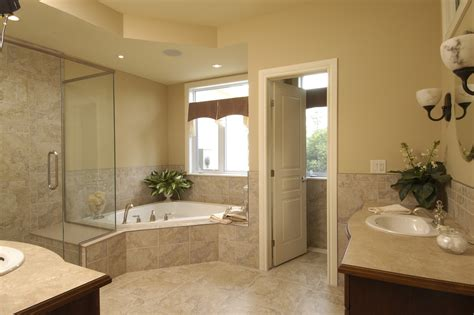 corner tub shower combo Bathroom Traditional with bathroom remodeling corner bathtub