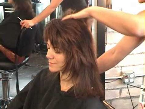 shag haircut rocker style part 2 rocker shag dry razor hair cutting youtube