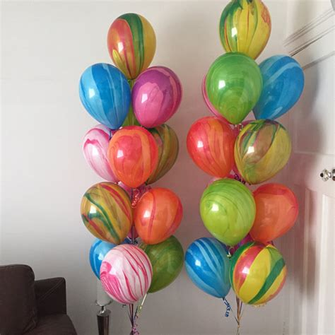 11 Black Agate Balloon Balon Motif custom colour marble balloons black white decor agate
