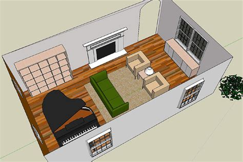 google sketchup living room tutorial living room playing around with google sketchup flickr