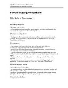 Resume Description Sles by Sales Resume Retail Sales Manager Description Retail Sales Manager Questions