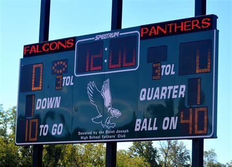 St Joe S Mba Gmat Score by Falcons Fly As St Joe S Opens New Football Field Scotch