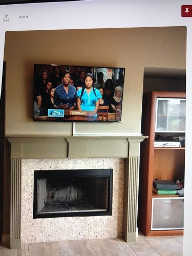 tv above fireplace where to put cable box how to hide cable wires when mounting tv fireplace