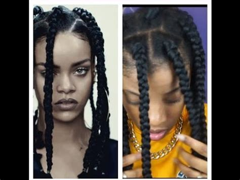 dookie braids 2015 how to rihanna inspired dookie braids youtube