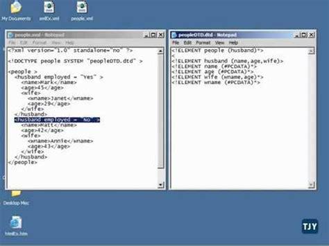 dtd in xml tutorial pdf xml tutorial 28 attributes in dtd schema youtube