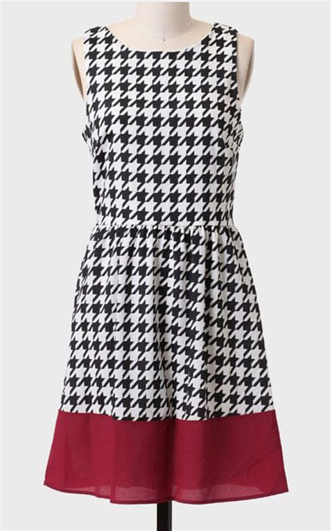 Dress Houndstooth everly houndstooth daring dress