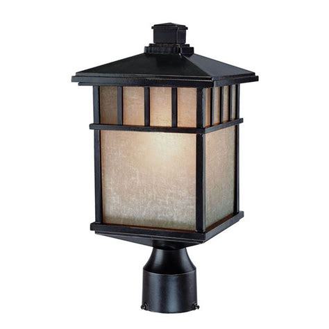 Outdoor L Post Led Bulb by 16 1 2 Inch Outdoor Post Light With Led Bulb 9116 68 10w