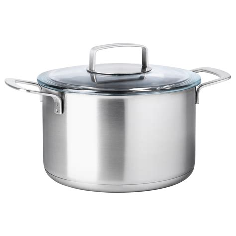 Panci Zwilling Ikea 365 Pot With Lid Stainless Steel Glass 5 L Ikea