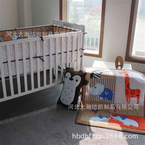 Promotion 3pcs Embroidery Cartoon Baby Bedding Set Pirate Pirate Crib Bedding