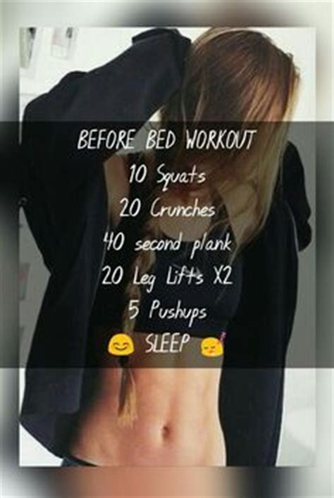 Exercises To Do Before Bed by 1000 Ideas About Flat Stomach Workouts On