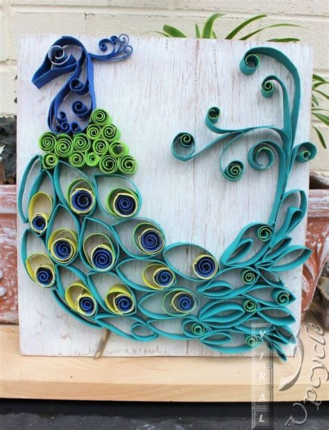 Paper Towel Arts And Crafts - paper towel roll into bohemian rustic peacock hometalk