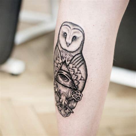 eye keyhole tattoo 47 best owl tattoos of all time tattooblend
