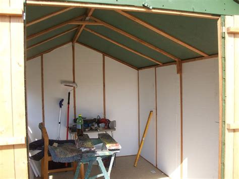 Lining Shed Walls by Lining Shed With Polystyrene Insulation Shed Workshop