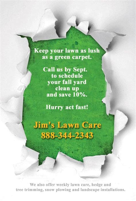 lawn care flyer template 16 best lawn care flyers images on