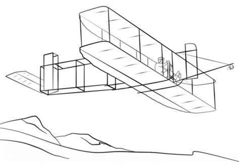wright brothers airplane coloring page free printable