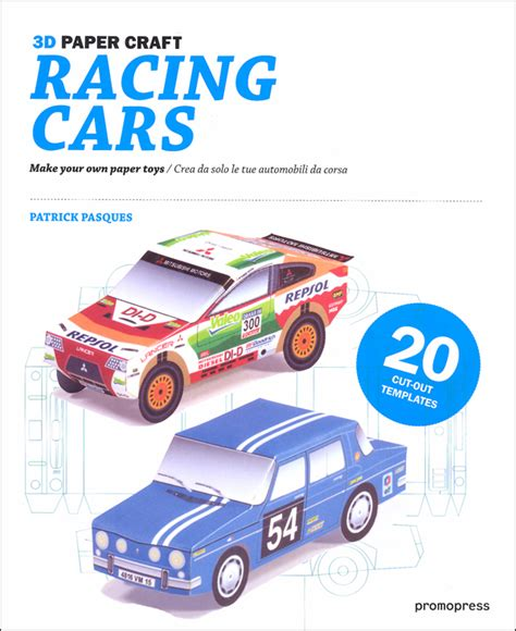 How To Make A Paper 3d Car - 3d paper craft racing cars make your own paper toys