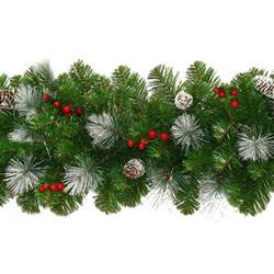 Banister Christmas Decorations Christmas Garlands And Wreaths From Xmasdirect