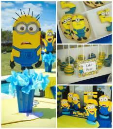 kara s ideas despicable me minion themed birthday cake decor ideas