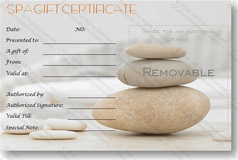 printable spa gift cards gift certificate template beautiful printable gift