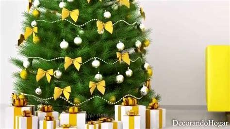arboles de navidad blanco decoracion decoraci 243 n 193 rbol de navidad amarillo tendencias decorar
