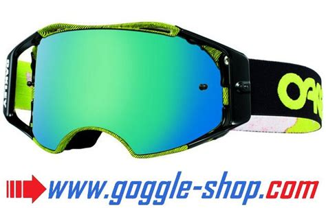 tear goggles motocross airbrake thumbprint green oakley mirror lens tear