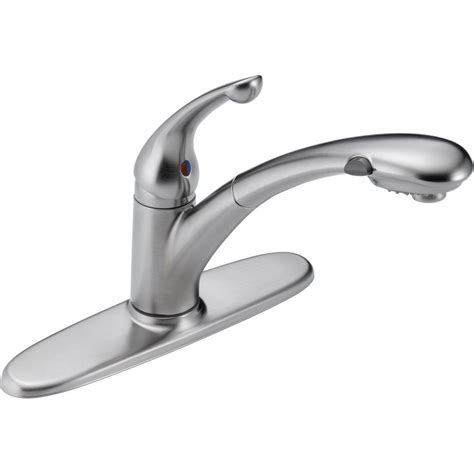 delta palo single handle pull out sprayer kitchen faucet delta palo pull out faucet