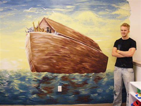 noah s ark mural by