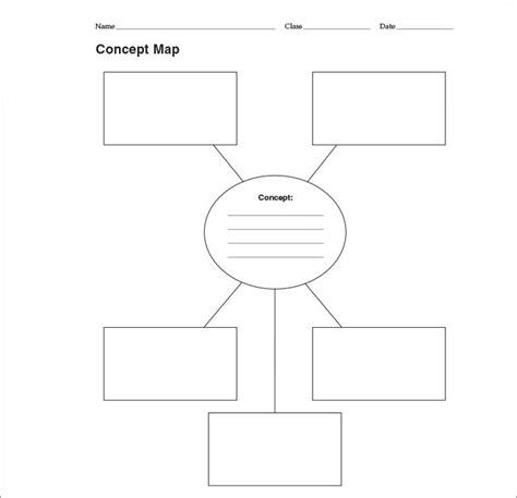 Concept Map Template Word by Concept Map Template Free Premium Templates