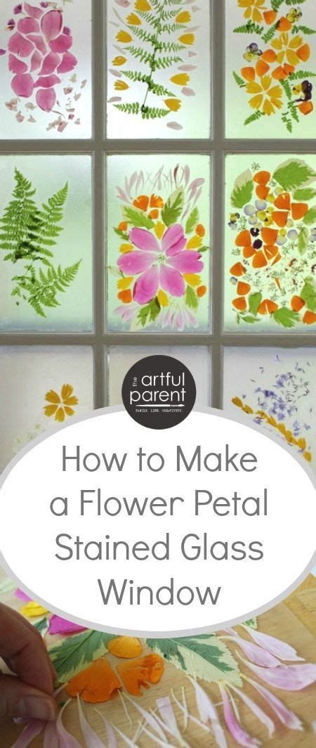 How To Make Stained Glass With Wax Paper - flower petal stained glass door a flower craft