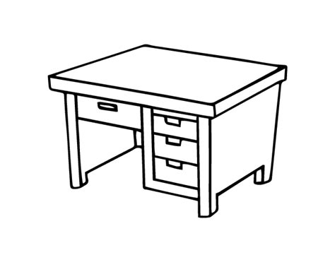 Coloring Desk For by Writing Desk Coloring Page Coloringcrew