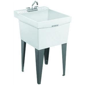 Utility L by Utility Sink Single Laundry Tub Mustee E L 19f