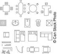 clipart furniture floor plan floor plan furniture vector clip art eps images 749 floor