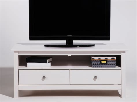 meuble tiroirs bois meuble tv bas en bois massif avec 2 tiroirs longueur 110cm