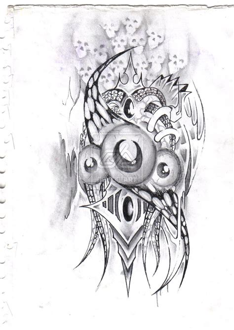 biomechanical tattoo step by step the gallery for gt evil joker tattoo drawings