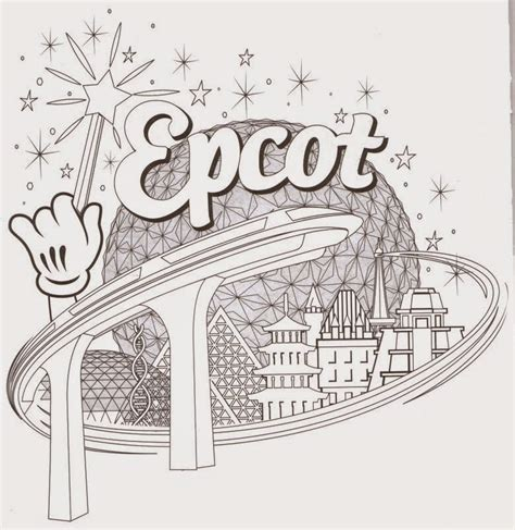 epcot coloring pages disney coloring pages