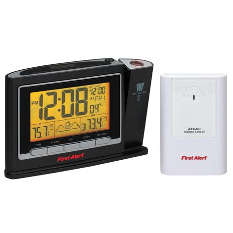 alert radio controlled weather station projection